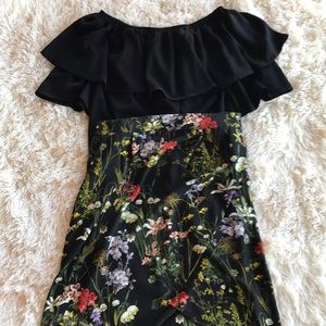 Off the shoulder top with floral skirt